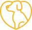 Herz mit Hund Icon